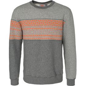 """Varg M's Fjällbacka Cotton Jersey Grey With Orange"""